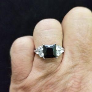 Jewelry - Square Cut Deep Green CZ Ring